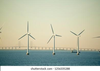 Three Offshore Wind Turbines