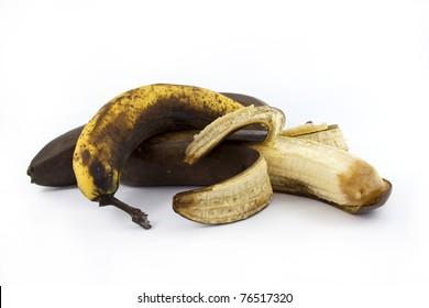 Three old bananas