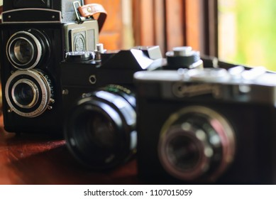 three old cameras that are now rarely used