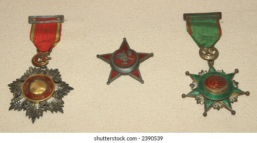 three old medals of ancient Anatolia