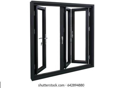three panels residential aluminum bi folding doors