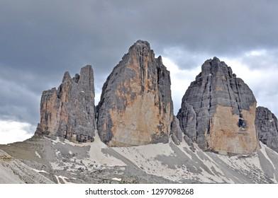 Three peaks mountain range, italian Alps, Dolomites
