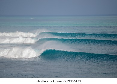 Three perfect waves go one by one