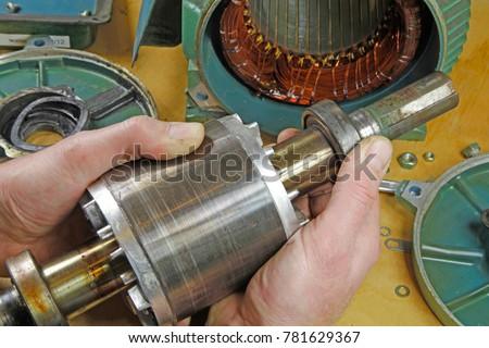 Three Phase Induction Motor Bearing Repair Stock Photo (Edit Now ...