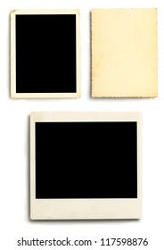 Three photographs isolated on white background.