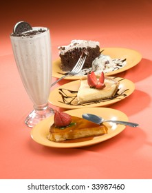 Three Pies and a Milkshake for Dessert.