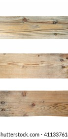 Three plank texture and background