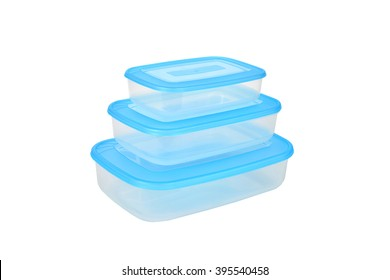 Three plastic containers for food
