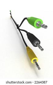 Three plugs (3D)