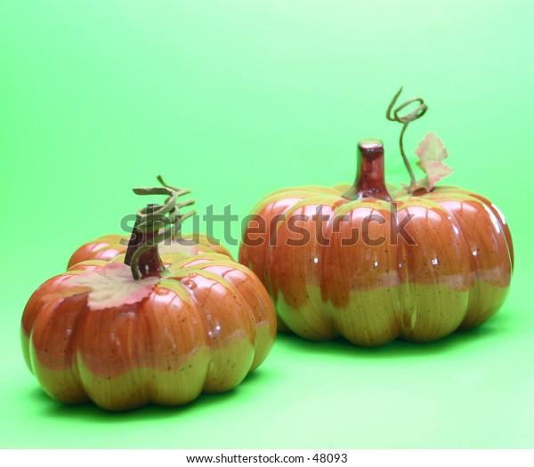 Three pumpkins.