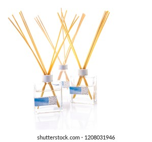 Three Reed Defusers on a white background