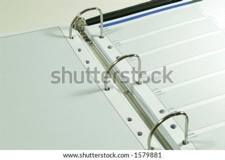 three ring binder business address book stock photo edit now