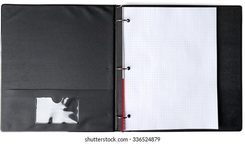 Three Ring Binder with Graph Paper - Isolated