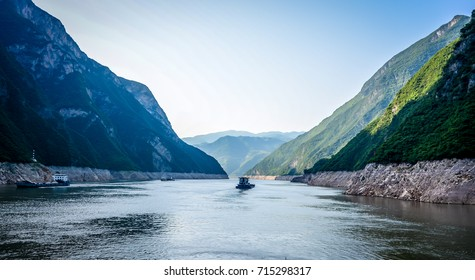 Three Rivers Gorge on the Yangtze River  in China