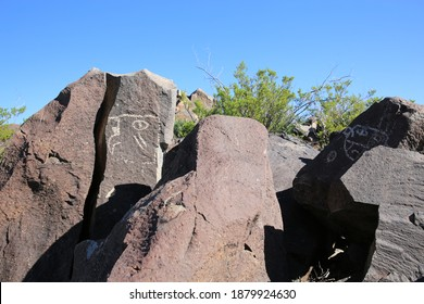 Three Rivers Petroglyph Site in New Mexico, USA