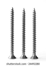 three screws on white