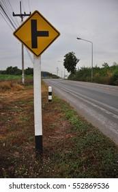 Three separate signs Traffic