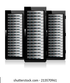 Three Servers - Server in Cabinets - Raster Version