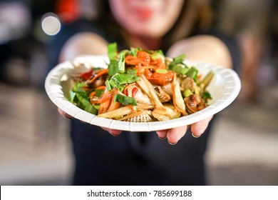 Three Shells Thai spicy salad style in foodtruck event.