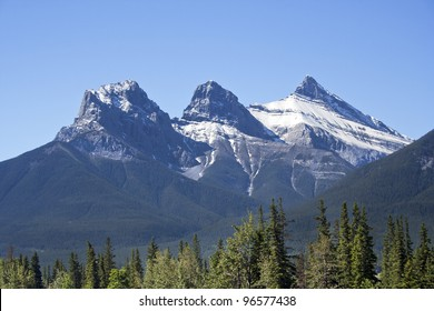 Three Sister Mountains, Canmore, Alberta, Canada