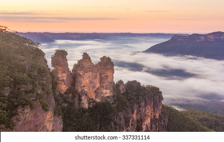 Three sister rock, Blue mountain national park, Australia.