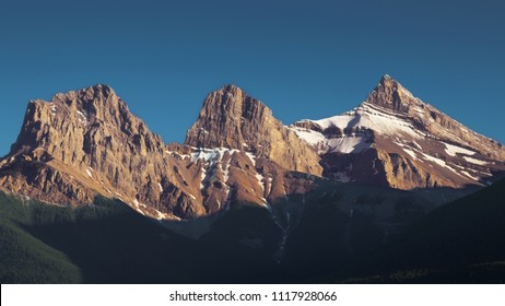 The three sisters, Canmore, Canada (Alberta)