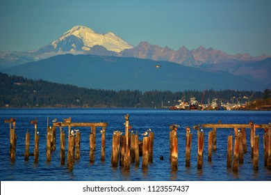 Three Sisters and Mount Baker