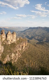 The Three Sisters mountain in Australia, National park Blue mountains in the New South Wales.