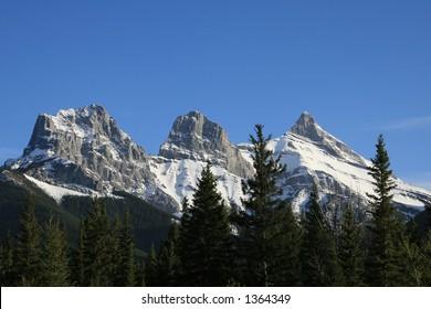 Three Sisters Mountain peaks