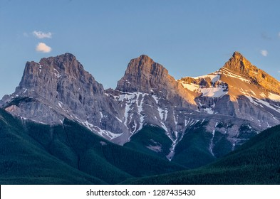 The Three Sisters.  A trio of peaks near Canmore, Alberta, Canada