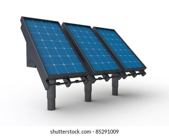 three solar panels