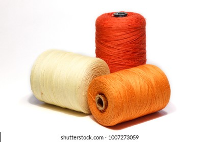 Antique Golden Brown Thread Spool Bobbin~Textile Industrial Factory~10 Spools