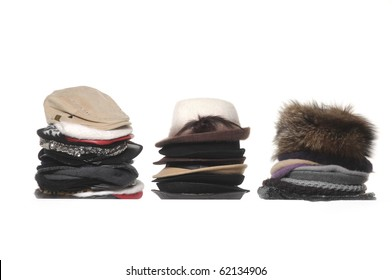 Three Stacked of fashion hat