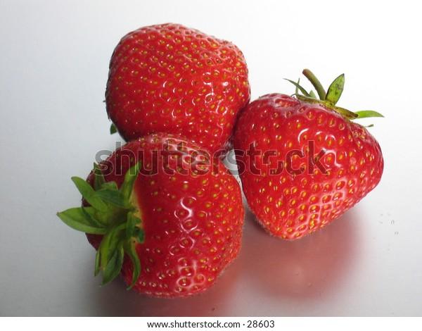 Three strawberries.