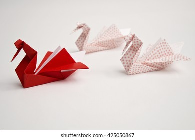 Three swans origami