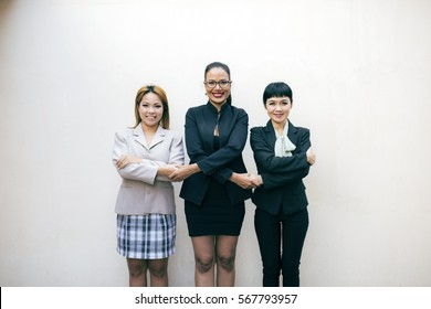Three of Teamwork Togetherness Collaboration Concept.People Hand Assemble Corporate Meeting Teamwork Concept.Successful business people handshaking after good deal. Horizontal.