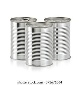 Three tin cans