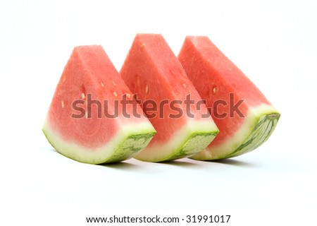 Three triangles of watermelon