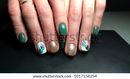 Three Types Nail Design On One Stock Photo Edit Now 1017158254