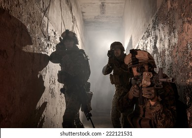 Three U.S. Marines involved in the raid. Special operation to rescue the hostages.