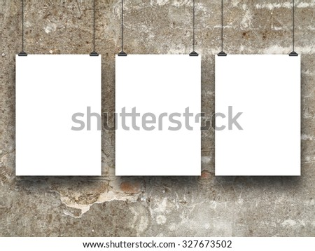 Three Vertical Paper Sheet Frames Clips Stock Photo Edit Now