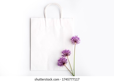 Three violet wild fire on the white bag
