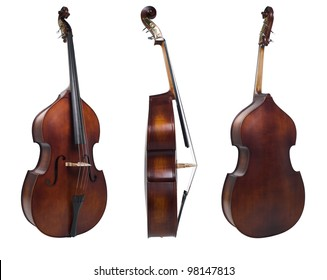 three violin isolated on white