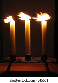 three wild candles