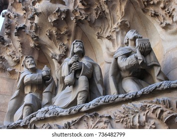 Three Wise Men Facade in La Sagrada Familia (Holy Family Church) - June 2017