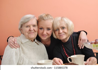 Three woman - three generations. MANY OTHER PHOTOS WITH THIS FAMILY IN MY PORTFOLIO.