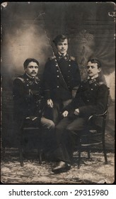 three young man is in an army form