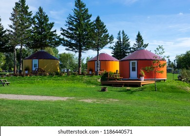 Three yurts for rental