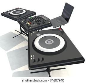 three-dimensional isolated DJ,  Equipment
