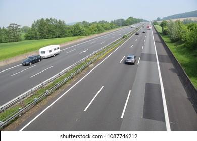 Three-lane highway near Bad Nenndorf / Lower Saxony
